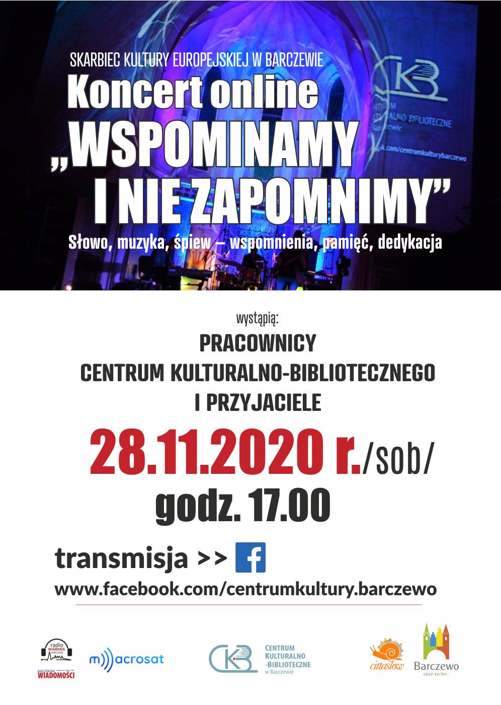 Wspominamy i nie zapomnimy – koncert online