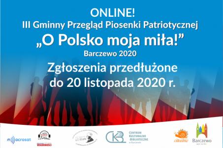 III Gminny Przegląd Piosenki Patriotycznej – ONLINE!