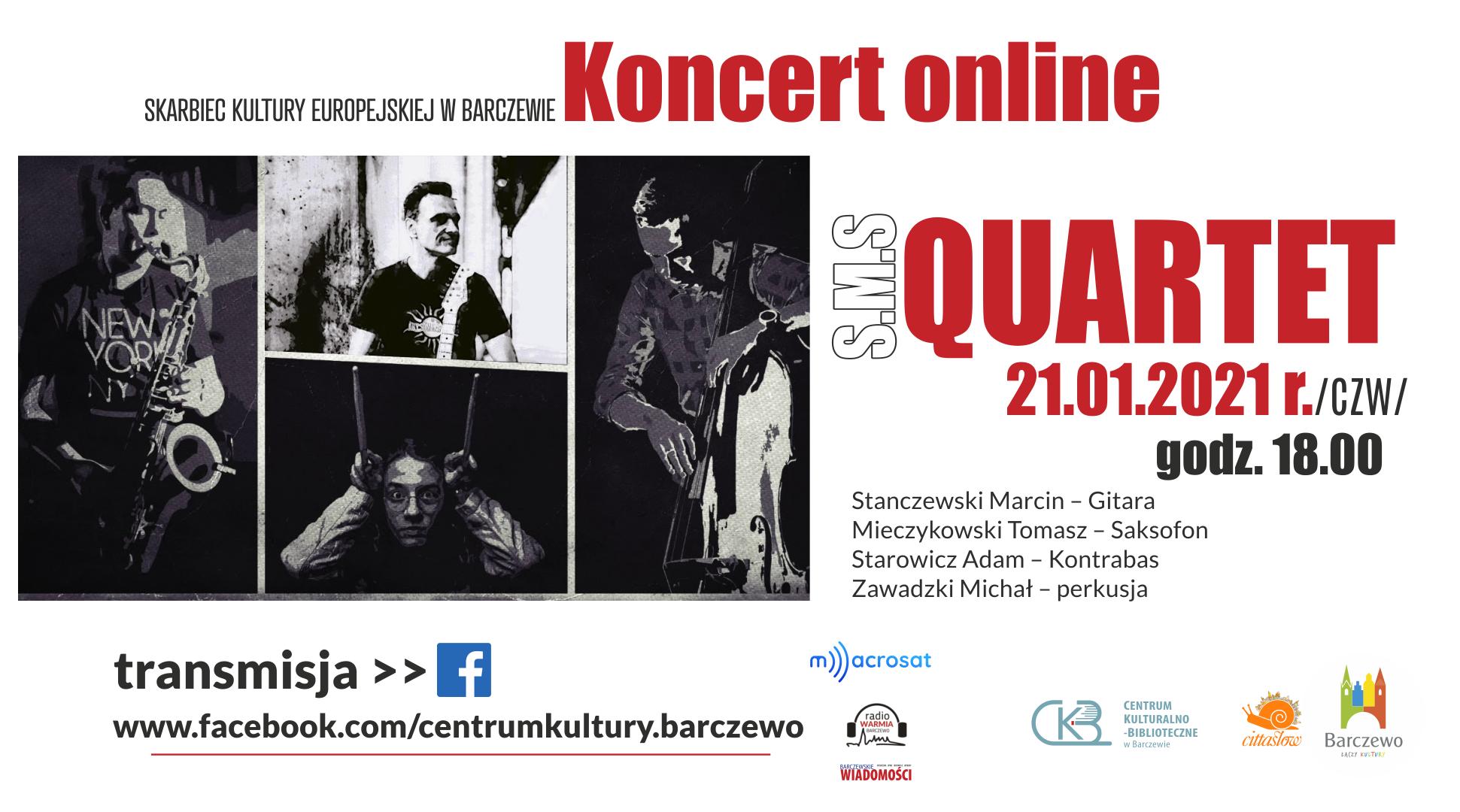 S.M.S Quartet – koncert online