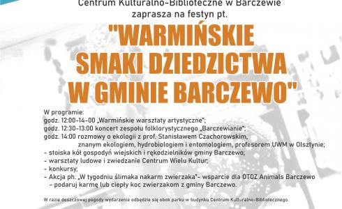 Warmińskie smaki dziedzictwa w gminie Barczewo